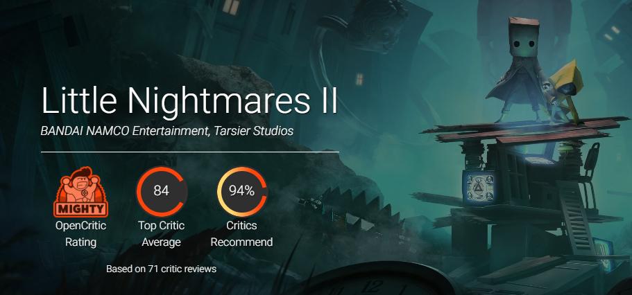 Little Nightmares II получила первые оценки, и они лучше чем у первой части