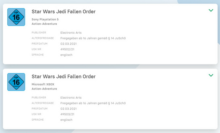 Слух - Star Wars: Jedi Fallen Order обновят до Xbox Series X | S