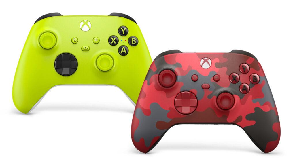 Microsoft представила два новых геймпада Xbox - Electric Volt и Daystrike Camo