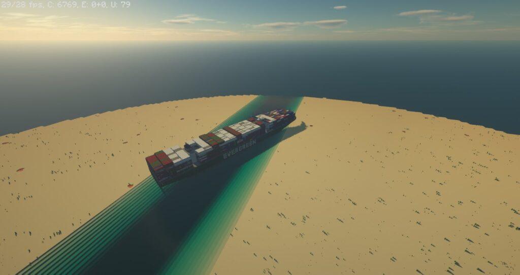 В Minecraft воссоздали печально прославившийся корабль Even Green