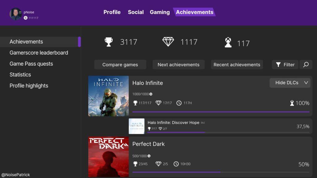 Команда Xbox отреагировала на фанатский концепт раздела достижений