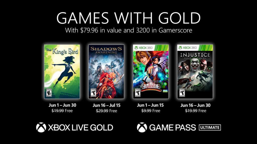 Список бесплатных игр по программе Games With Gold в июне