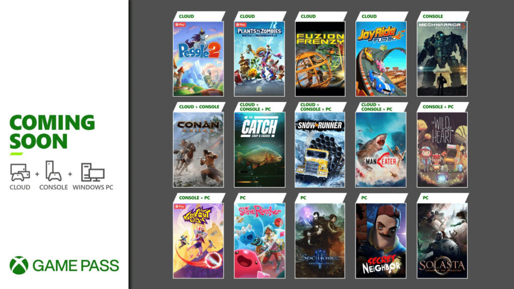 Эти 15 игр добавят в Game Pass до конца мая
