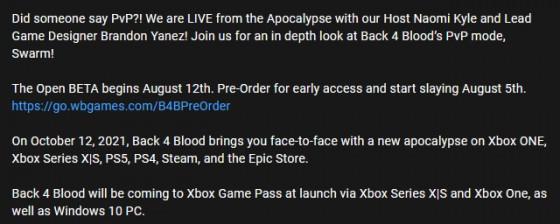 Слух: Back 4 Blood добавят в Game Pass в день релиза