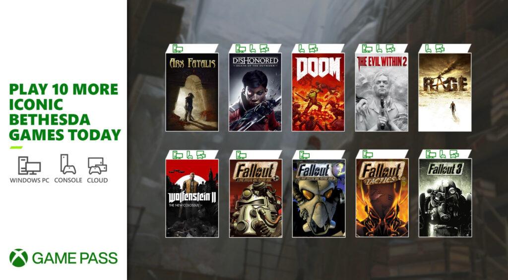 Еще 10 игр Bethesda добавили в подписку Xbox Game Pass