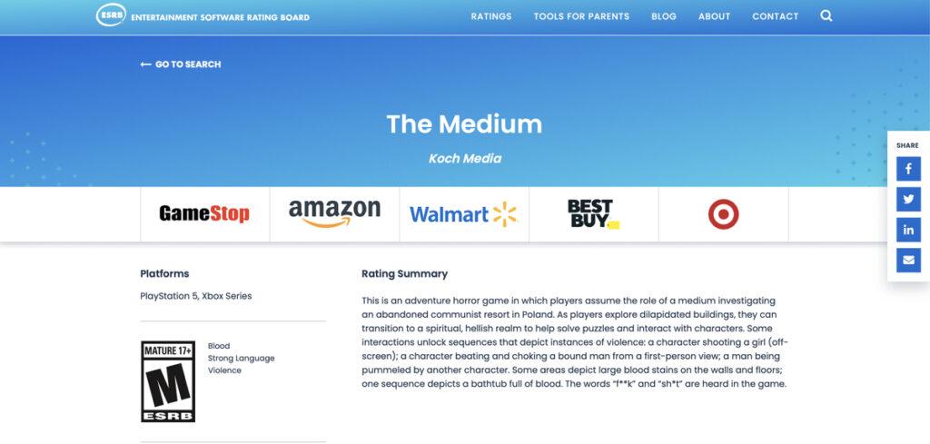 Слух: Вскоре The Medium перестанет быть консольным эксклюзивом Xbox