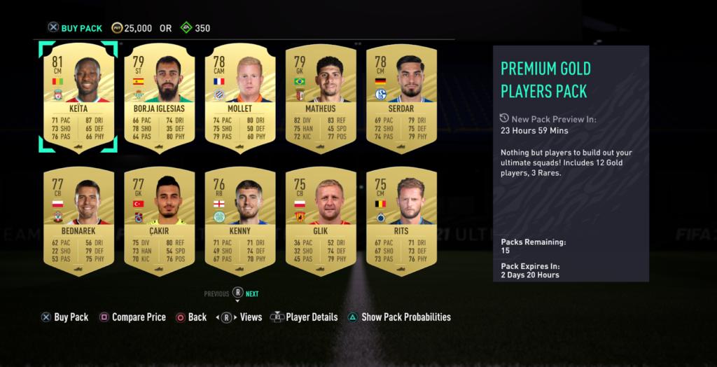 В FIFA 21 добавили в Ultimate Team наборы с предпросмотром содержимого