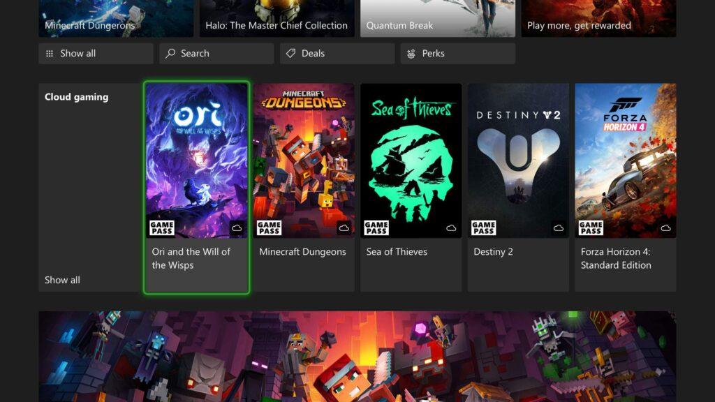 Xbox Cloud Gaming даст возможность запускать next-gen игры на Xbox One