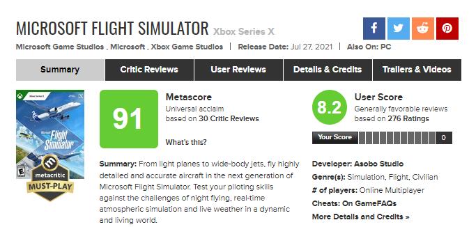 Microsoft Flight Simulator – лучшая игра для Xbox за 2021 год на данный момент