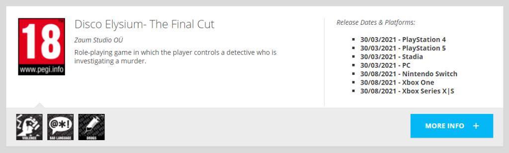 Похоже, что Disco Elysium близок к релизу на Xbox – игра получила рейтинг