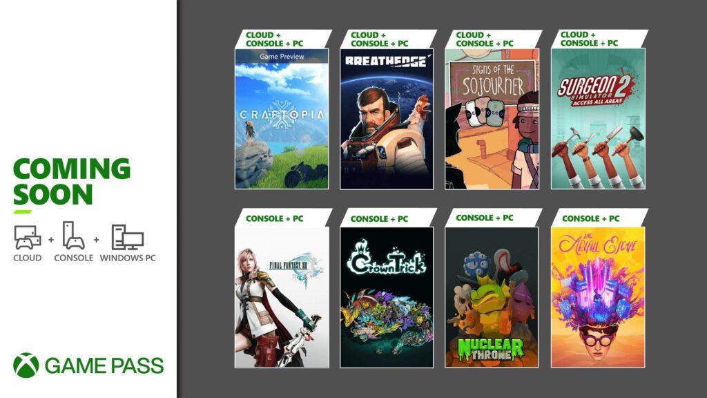 Эти 8 игр пополнят Game Pass в первые недели сентября