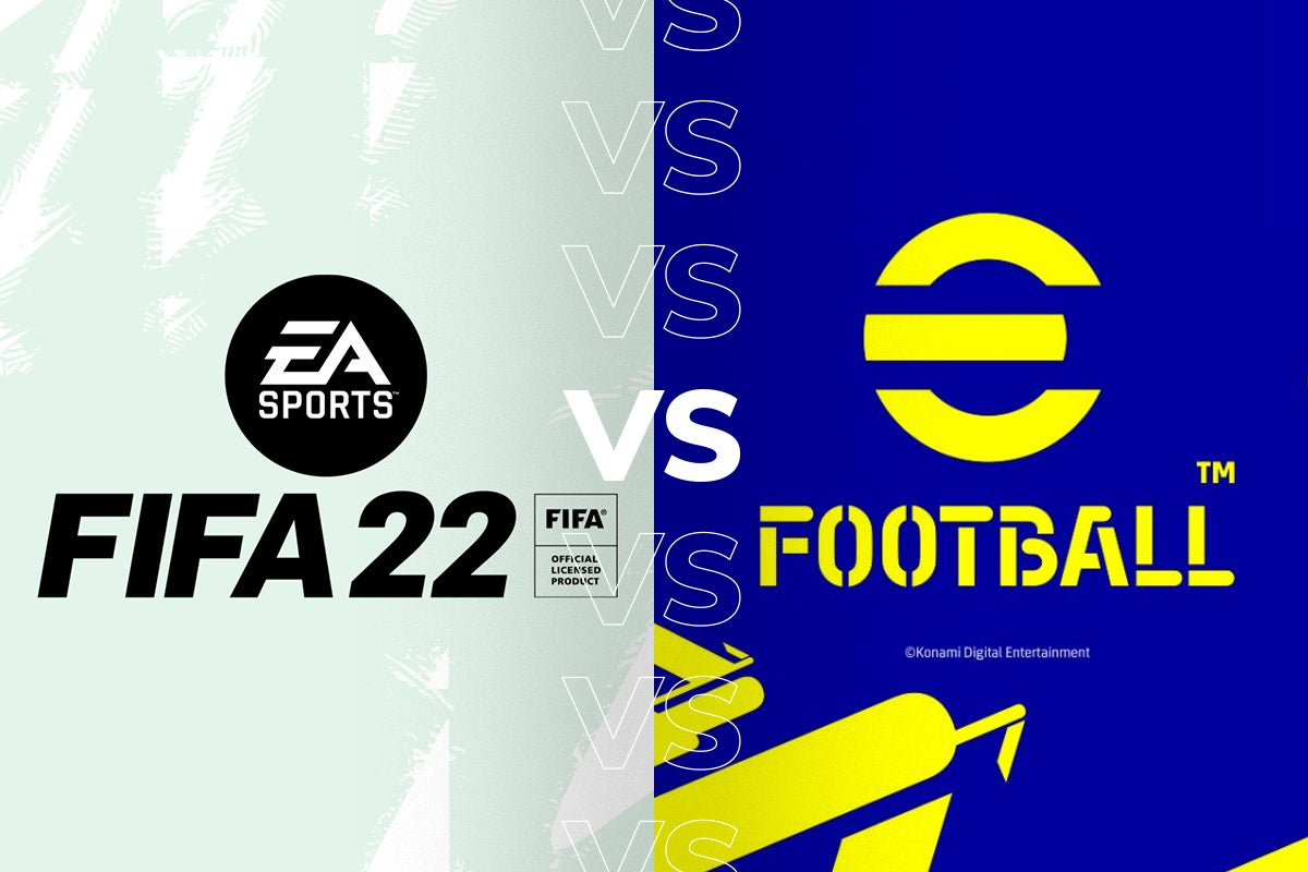 Сравнение FIFA 22 и eFootball 22 по графике, физике и другим деталям